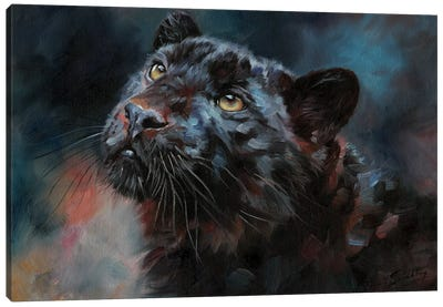 Black Panther III by David Stribbling Canvas Art Print