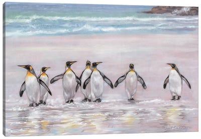 7 Penguins Canvas Art Print