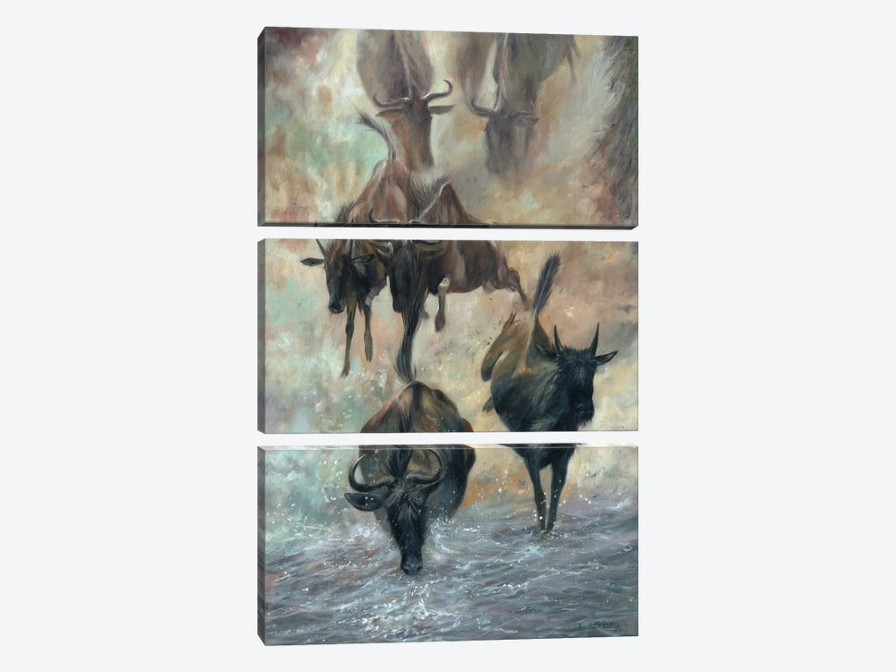 The Great Migration by David Stribbling 3-piece Canvas Print