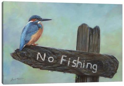 Kingfisher No Fishing Canvas Art Print