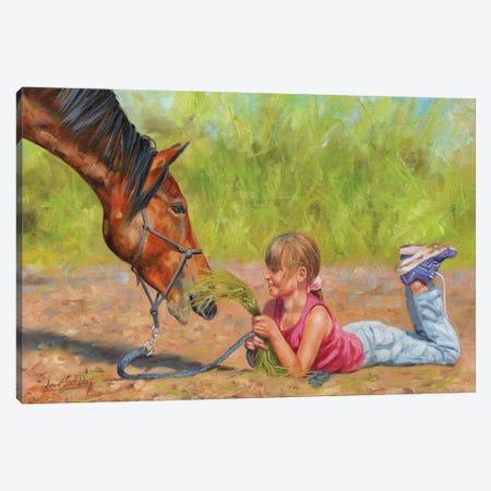 Best Friends Canvas Print #STG287} by David Stribbling Canvas Art