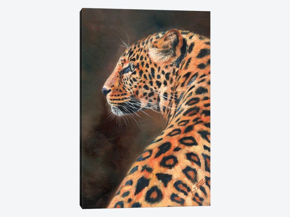 Leopard Profile by David Stribbling 1-piece Canvas Artwork