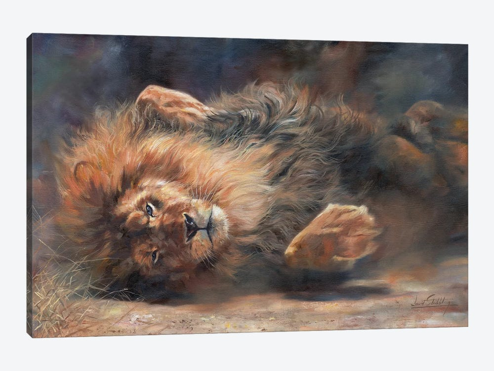 Lion Rockin' And Rollin' by David Stribbling 1-piece Canvas Art