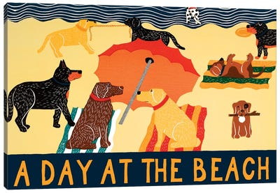 Day At The Beach Canvas Art Print
