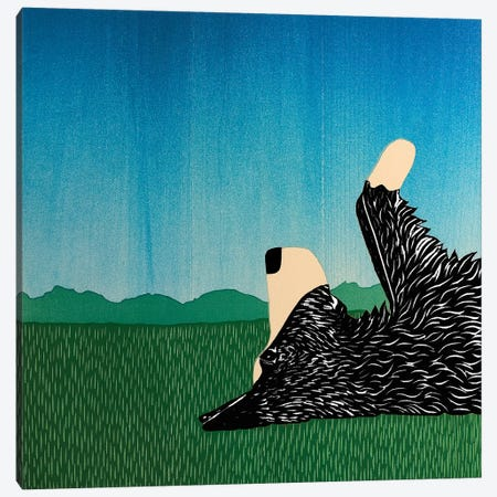 Day Dreaming Borador Canvas Print #STH101} by Stephen Huneck Canvas Artwork