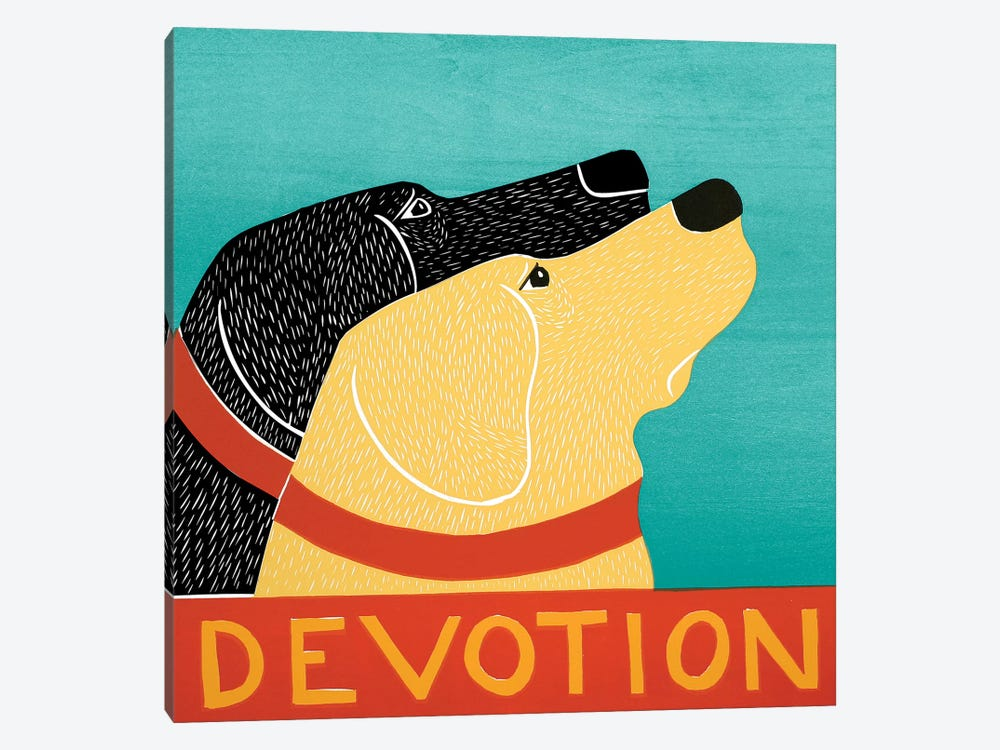 Devotion by Stephen Huneck 1-piece Canvas Print