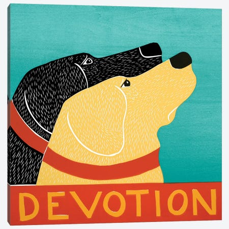Devotion Canvas Print #STH102} by Stephen Huneck Canvas Wall Art