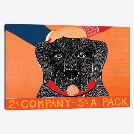 2's Company, Black Canvas Print #STH109} by Stephen Huneck Canvas Wall Art