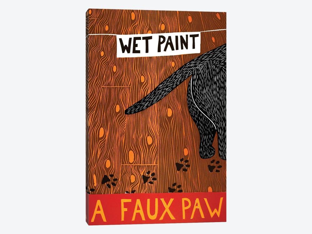 A Faux Paw, Black by Stephen Huneck 1-piece Canvas Art