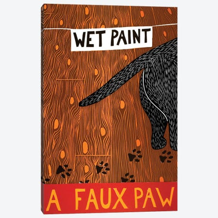 A Faux Paw, Black Canvas Print #STH110} by Stephen Huneck Art Print