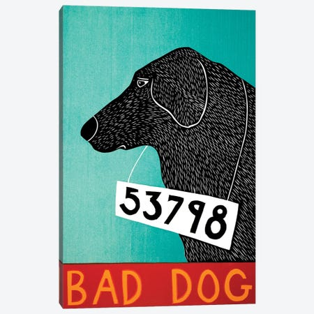 Bad Dog, Black Canvas Print #STH112} by Stephen Huneck Canvas Print