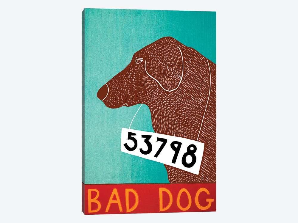 Bad Dog, Choc by Stephen Huneck 1-piece Canvas Art