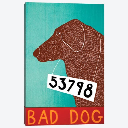 Bad Dog, Choc Canvas Print #STH114} by Stephen Huneck Canvas Artwork