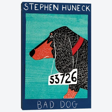 Bad Dog, Dachshund Canvas Print #STH115} by Stephen Huneck Canvas Artwork