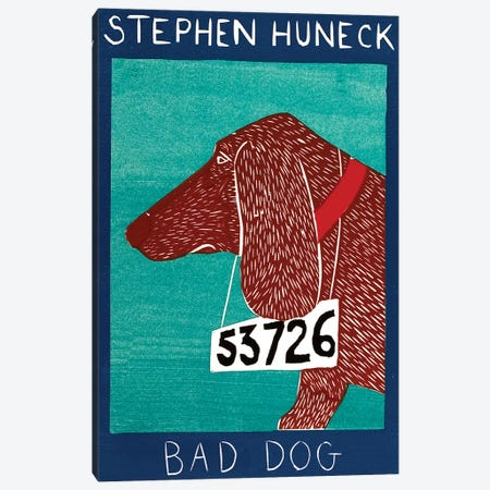 Bad Dog, Dachshund Red Canvas Print #STH116} by Stephen Huneck Canvas Art