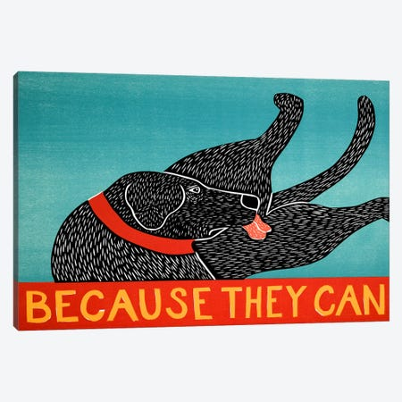 Because They Can Canvas Print #STH11} by Stephen Huneck Canvas Artwork