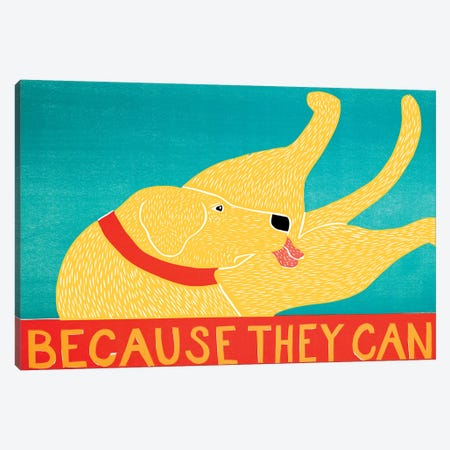 Because They Can, Yellow Canvas Print #STH121} by Stephen Huneck Canvas Artwork