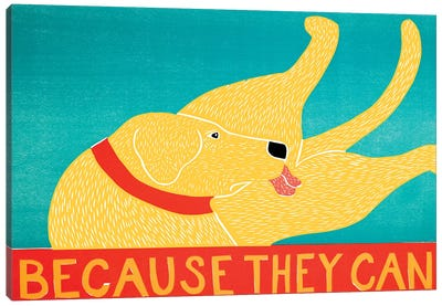 Because They Can, Yellow Canvas Art Print
