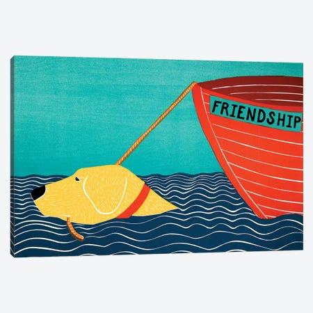 Boat Friendship, Yellow Canvas Print #STH126} by Stephen Huneck Art Print