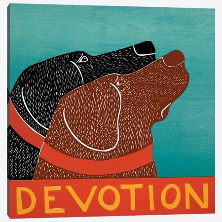 Devotion - Black, Choc Canvas Print #STH134} by Stephen Huneck Canvas Artwork