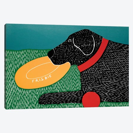 Dog Toys Good Dog Black Canvas Print #STH139} by Stephen Huneck Art Print
