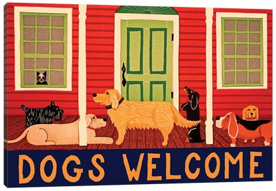 Dogs Welcome II Canvas Art Print