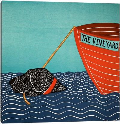 Boat MV Black Canvas Print #STH15