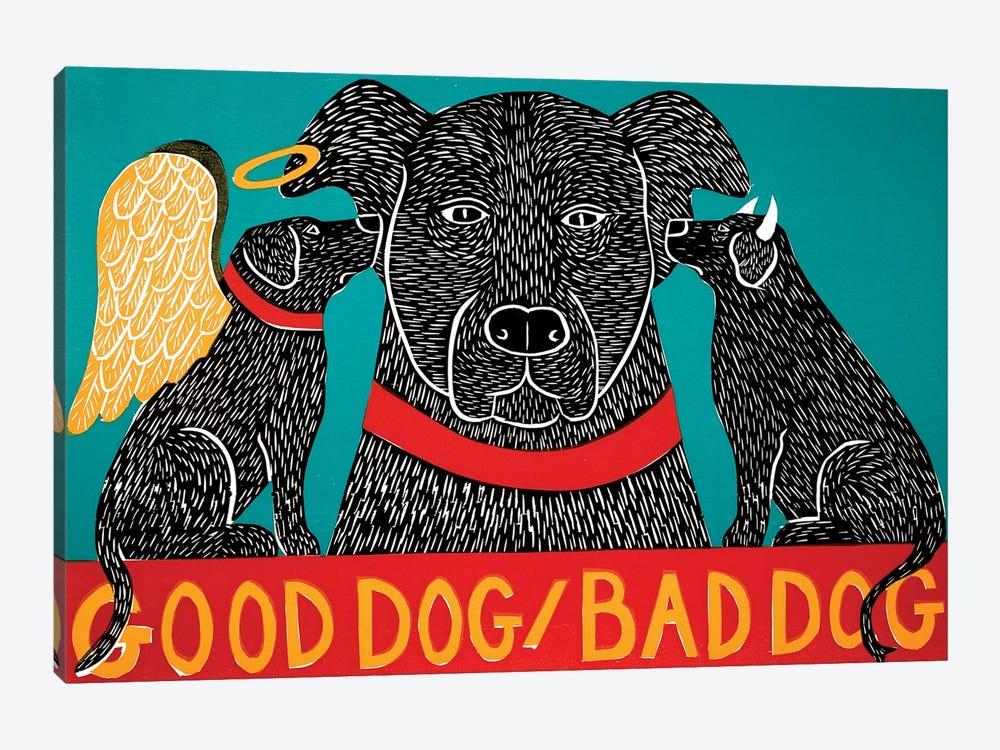 Good Dog Bad Dog, Black by Stephen Huneck 1-piece Canvas Wall Art