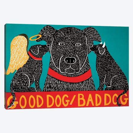Good Dog Bad Dog, Black Canvas Print #STH170} by Stephen Huneck Canvas Art Print