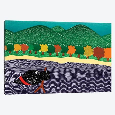 I Like Sticks Autumn Canvas Print #STH179} by Stephen Huneck Art Print