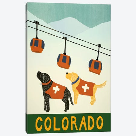 Colorado Ski Patrol Canvas Print #STH17} by Stephen Huneck Art Print