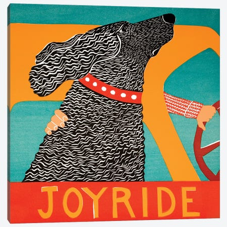 Joyride Black Canvas Print #STH185} by Stephen Huneck Canvas Print