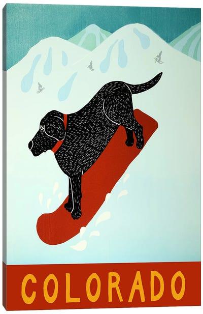 Colorado Snowboard Black Canvas Art Print
