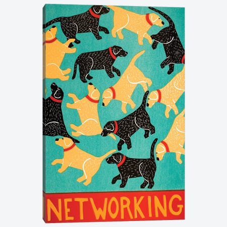 Networking Canvas Print #STH198} by Stephen Huneck Canvas Art Print