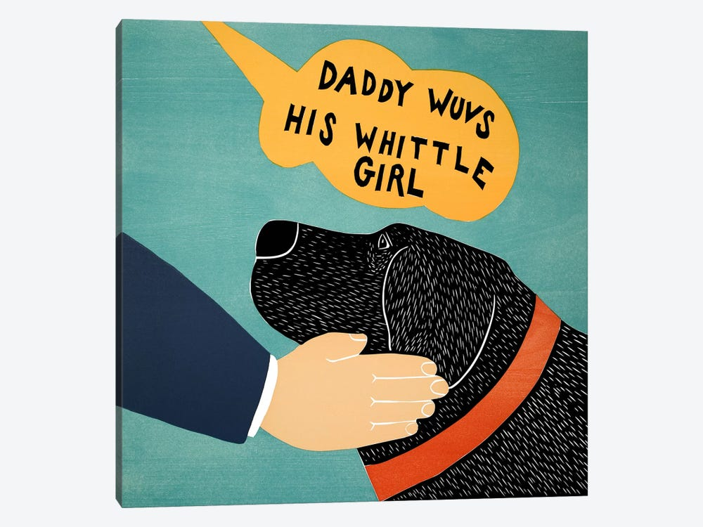 Daddy Wuvs his Wittle Girl by Stephen Huneck 1-piece Art Print