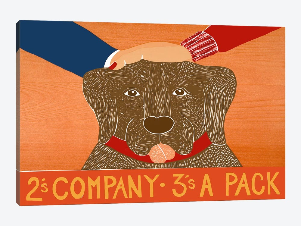 2s company choc by Stephen Huneck 1-piece Canvas Artwork