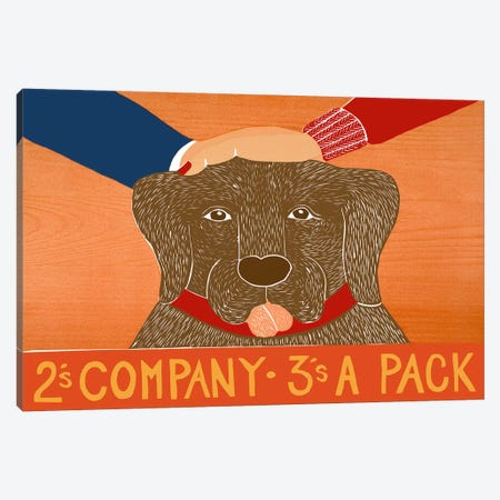 2s company choc Canvas Print #STH1} by Stephen Huneck Canvas Artwork