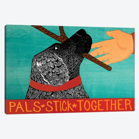 Pals Stick Together, Black Canvas Print #STH200} by Stephen Huneck Canvas Print