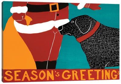 Seasons Greetings, Black Canvas Art Print