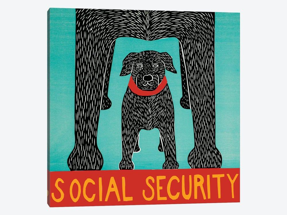 Social Security by Stephen Huneck 1-piece Canvas Artwork