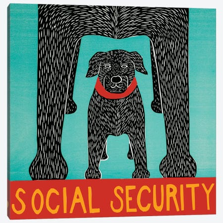Social Security Canvas Print #STH205} by Stephen Huneck Canvas Wall Art