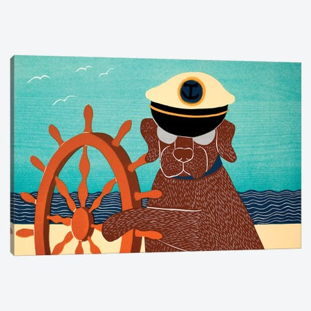 The Captain, Choc Canvas Print #STH210} by Stephen Huneck Canvas Wall Art
