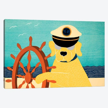 The Captain, Yellow Canvas Print #STH211} by Stephen Huneck Canvas Art