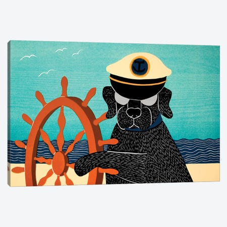 The Captain, Black Canvas Print #STH212} by Stephen Huneck Canvas Wall Art