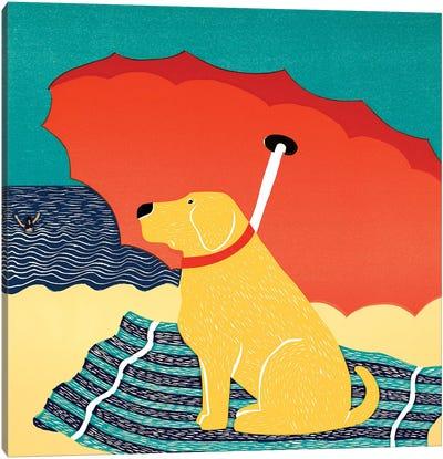 The Lifeguard, Yellow Canvas Art Print