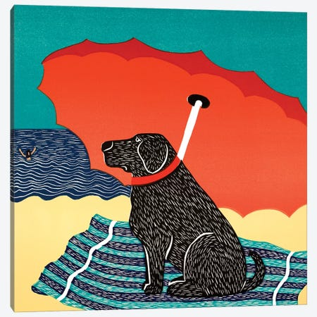The Lifeguard, Black Canvas Print #STH214} by Stephen Huneck Art Print
