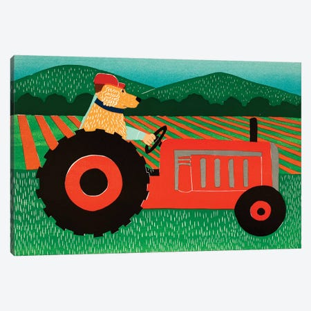 The Tractor Canvas Print #STH217} by Stephen Huneck Art Print