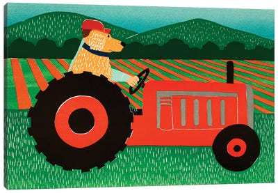 The Tractor Canvas Art Print