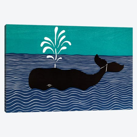 The Whale Canvas Print #STH218} by Stephen Huneck Canvas Artwork