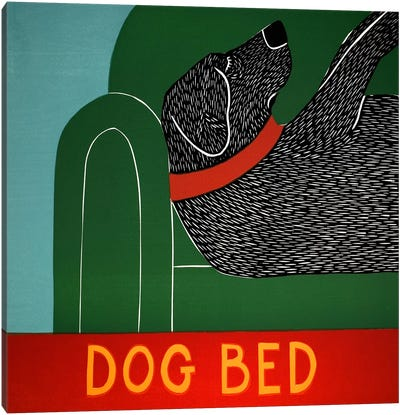 Dog Bed Canvas Art Print